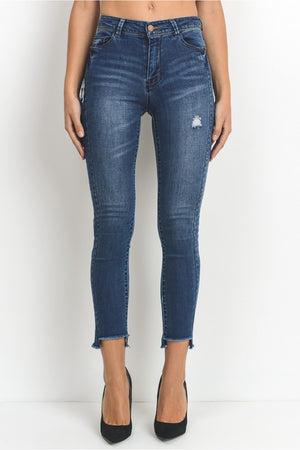 High Waist Ankle Skinny Jeans