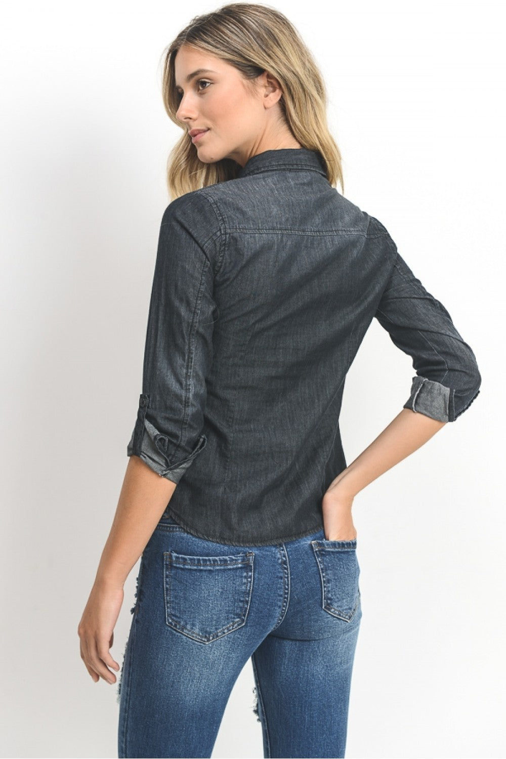 Long Sleeve Chambray Shirt