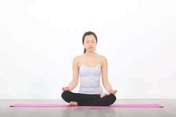 gentle yoga move #5: lotus pose