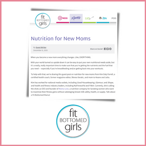 Fit Bottomed Girls: Nutrition for New Moms