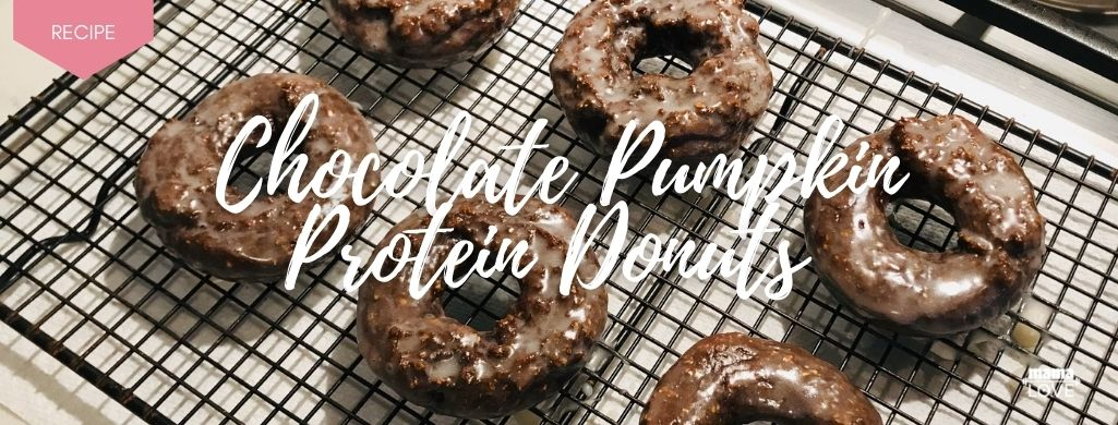 chocolate pumpkin protein donuts to boost breast milk and support muscle recovery