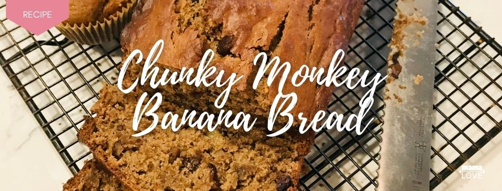chunky monkey banana bread recipe to boost breast milk and support muscle recovery