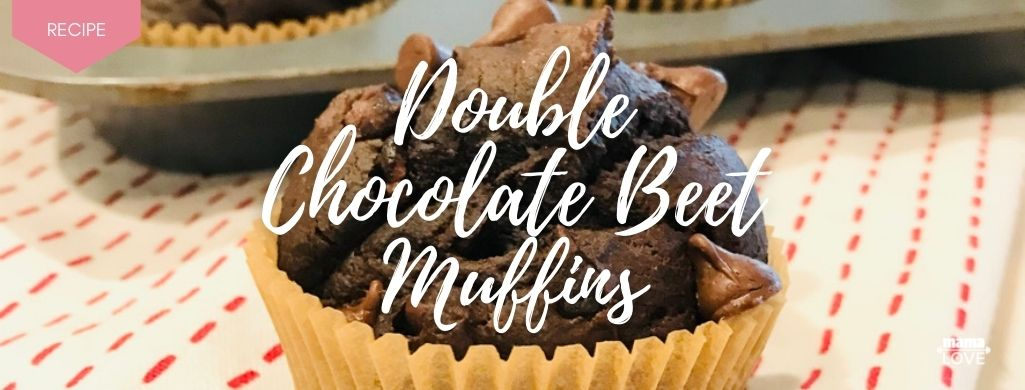 double chocolate beet muffins recipe to boost breast milk and support muscle recovery