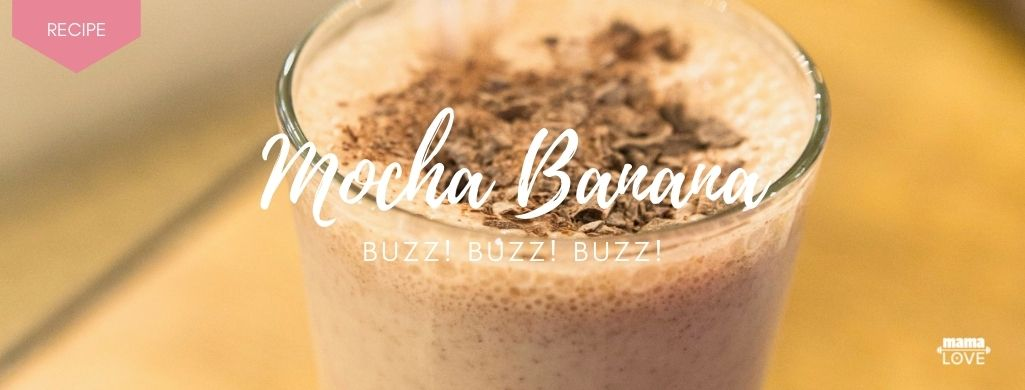 mocha banana smoothie recipe to boost breast milk and support muscle recovery