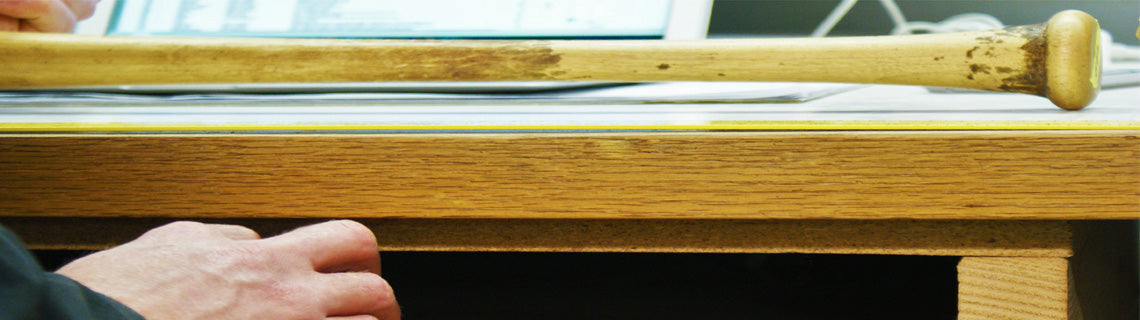 Chandler bat on desk