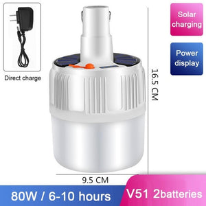 5000K Portable solar LED Bulb Hanging