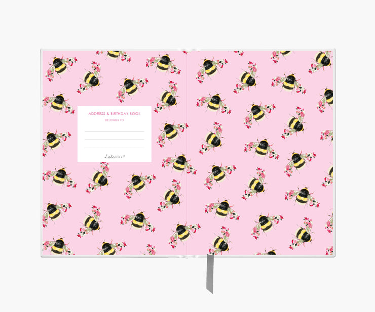 Bee Address & Birthday Book - Lola Design Ltd