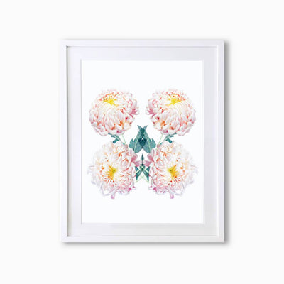 Chrysanthemums Botanique (Pattern) Art Print - Lola Design Ltd