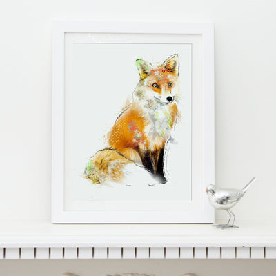Fox Art Print - Lola Design Ltd