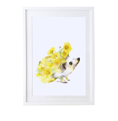 Hedgehog Art Print - Lola Design Ltd