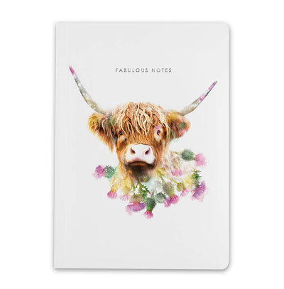 Highland Cow Luxury Notebook - Lola Design Ltd