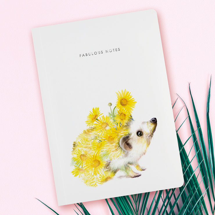 Hedgehog Luxury Notebook - Lola Design Ltd