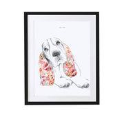 Basset Hound Personalised Pet Portrait - Lola Design Ltd
