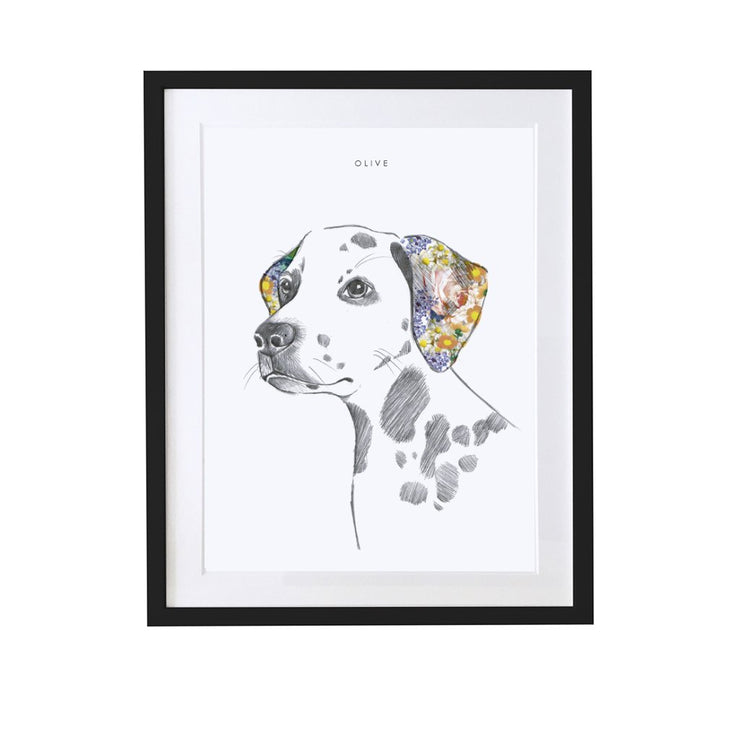 Dalmation Personalised Pet Portrait - Lola Design Ltd