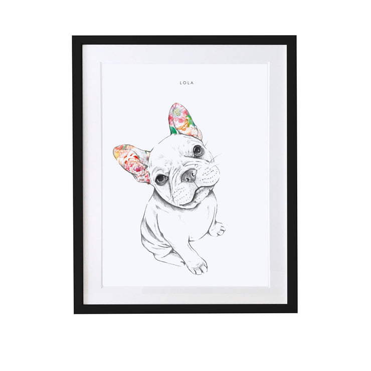 French Bulldog Personalised Pet Portrait - Lola Design Ltd