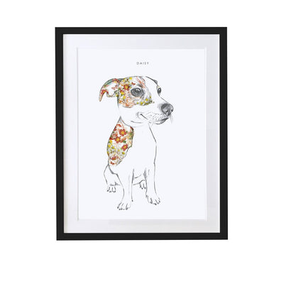 Jack Russell Personalised Pet Portrait - Lola Design Ltd