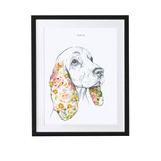 Spaniel Personalised Pet Portrait - Lola Design Ltd