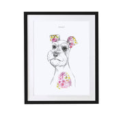 Schnauzer Personalised Pet Portrait - Lola Design Ltd
