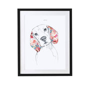 Beagle Personalised Pet Portrait - Lola Design Ltd