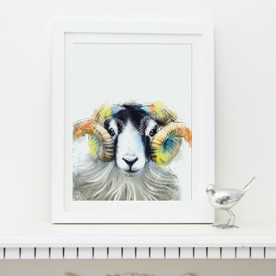 Ram Art Print - Lola Design Ltd