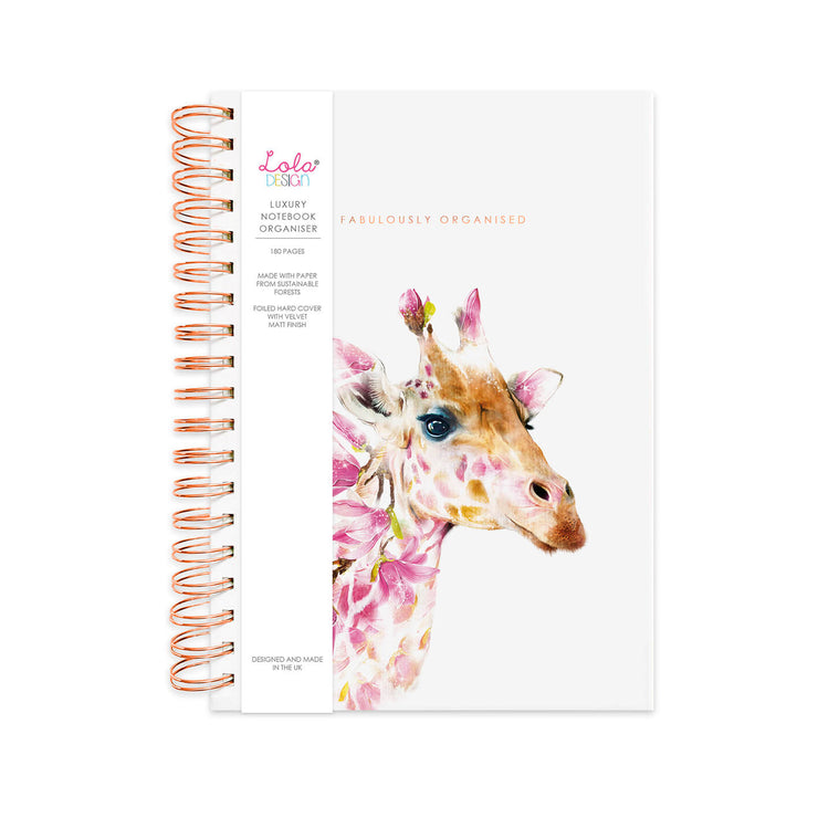 Wiro Bound Giraffe Luxury Organiser / Notebook - Lola Design Ltd