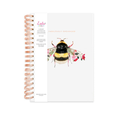 Wiro Bound Bee Luxury Organiser / Notebook - Lola Design Ltd