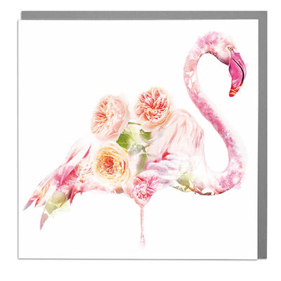 Flamingo Card - Lola Design Ltd