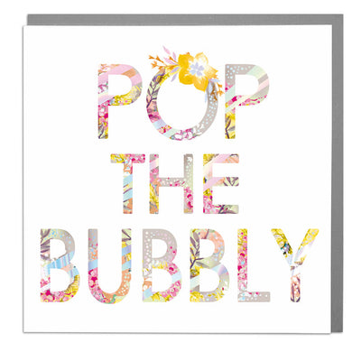 Pop The Bubbly Card - Lola Design Ltd