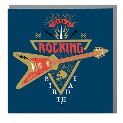 Rocking Guitar Birthday Card - Lola Design Ltd