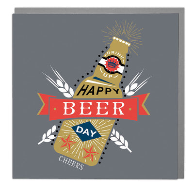 Beer Birthday Card - Lola Design Ltd