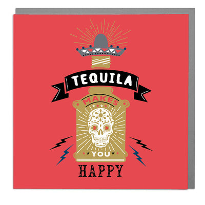 Tequila Birthday Card - Lola Design Ltd