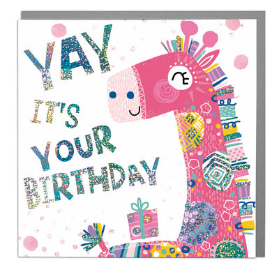 Giraffe Birthday Card - Lola Design Ltd