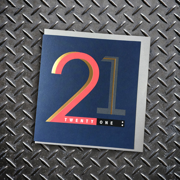 21st Birthday Card - Lola Design Ltd