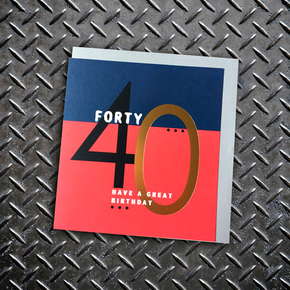 40th Birthday Card - Lola Design Ltd