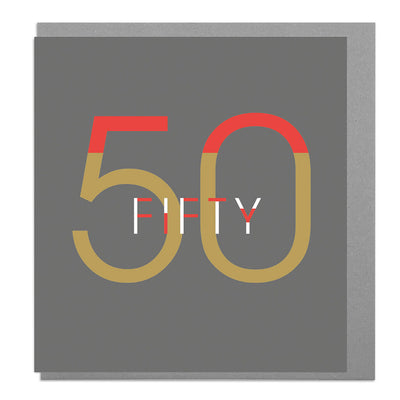 50th Birthday Card - Lola Design Ltd