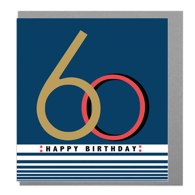 Age 60 Birthday Card - Lola Design Ltd
