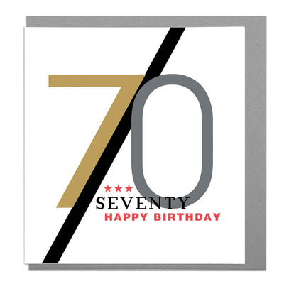 70th Birthday Card - Lola Design Ltd