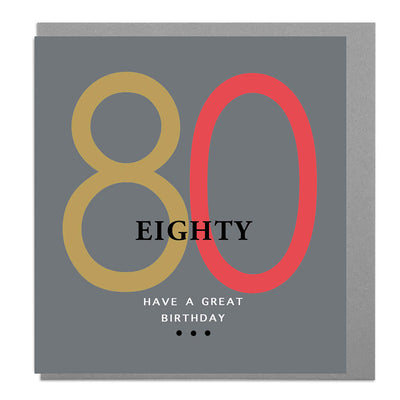 80th Birthday Card - Lola Design Ltd