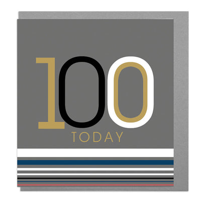 100th Birthday Card - Lola Design Ltd
