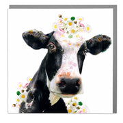 Holstein Cow Card - Lola Design Ltd