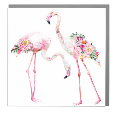Two Flamingos Card - Lola Design Ltd