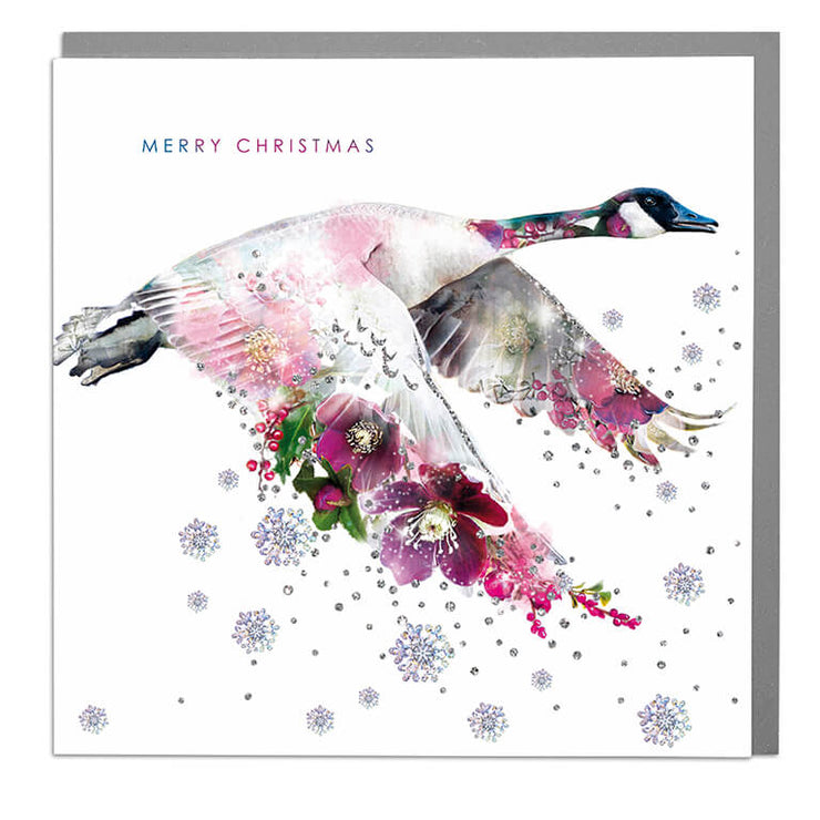 Canadian Goose Merry Christmas Card - Lola Design Ltd
