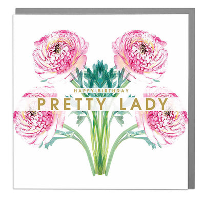 Happy Birthday Pretty Lady Card - Lola Design Ltd