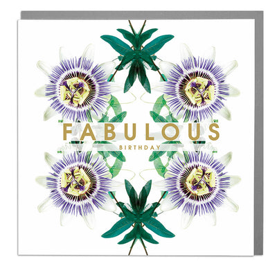 Wishing You A Fabulous Birthday Card - Lola Design Ltd