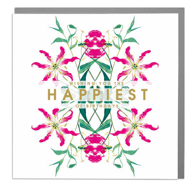 Wishing You The Happiest Of Birthdays Card - Lola Design Ltd