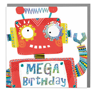 Robot Happy Birthday Card - Lola Design Ltd