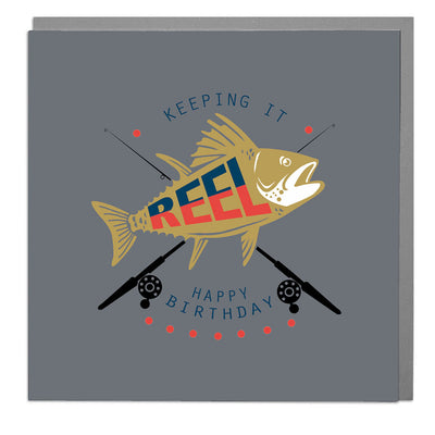 Keep It Reel Birthday Card - Lola Design Ltd