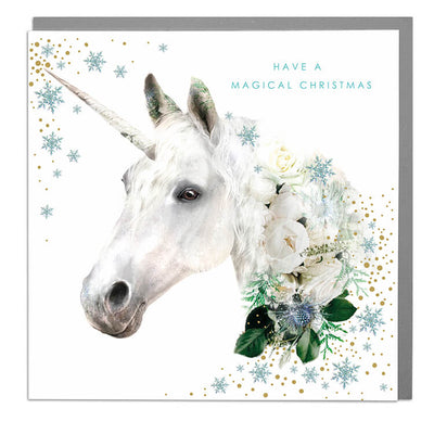 Unicorn Christmas Card - Lola Design Ltd