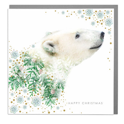 Polar Bear Christmas Card - Lola Design Ltd