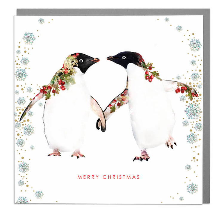 Two Penguins Christmas Card - Lola Design Ltd